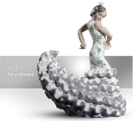Lladro 08766 FLAMENCO FLAIR (GREEN / PURPLE) (L.E.)