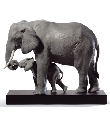 lladro elephant porcelain