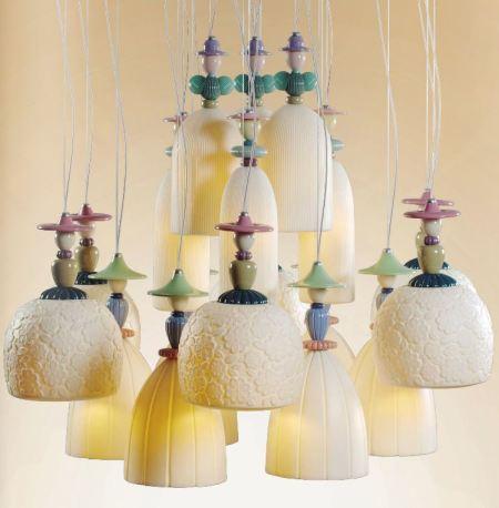 Lladro lighting Mademoiselle Collection