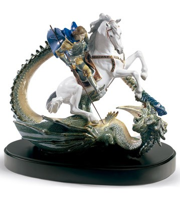 Lladro SAINT GEORGE AND THE DRAGON
