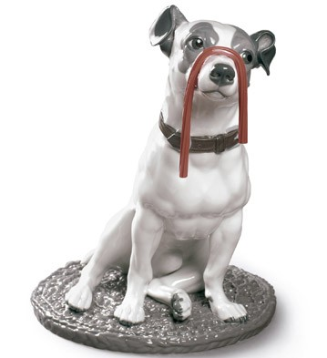 Lladro 09192 JACK RUSSELL WITH LICORICE