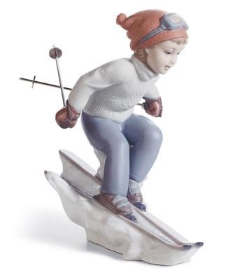 Lladro porcelain ski