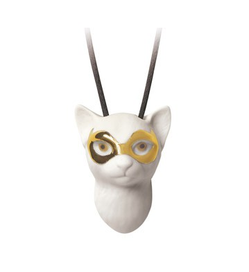 Lladro MASKED CAT PENDANT