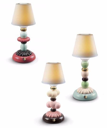 Lladro porcelain lamps