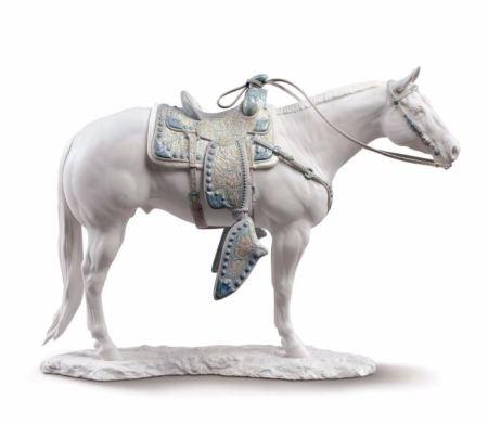 Lladro WHITE QUARTER HORSE